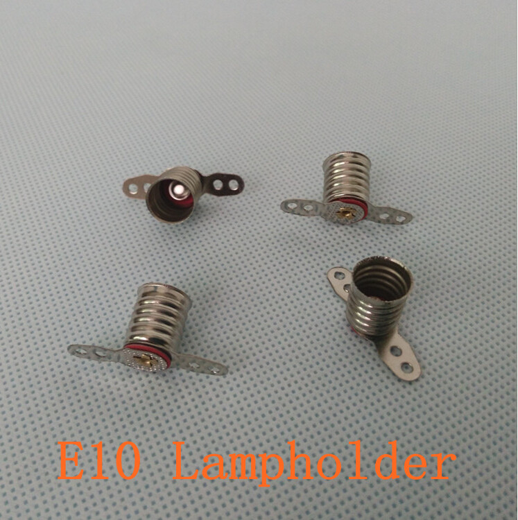 <font><b>E10</b></font> Lampholder Long Leg <font><b>LED</b></font> Bulbs Light Base Socket for circuit electrical test accessories 100PCS