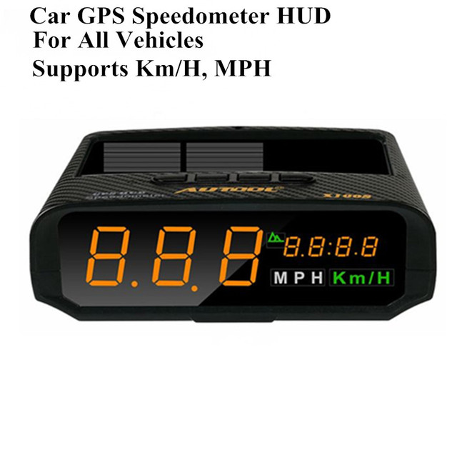 AUTOOL XS Universal Car HUD GPS Speedometer MPHKMh LED Head - Car sign with namesonline get cheap d led sign aliexpresscom alibaba group