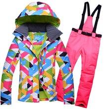 2019 RIVIYELE snow winter ski suit women skiing set brand female snowboard jacket water and windproof ladies snow coat and pants