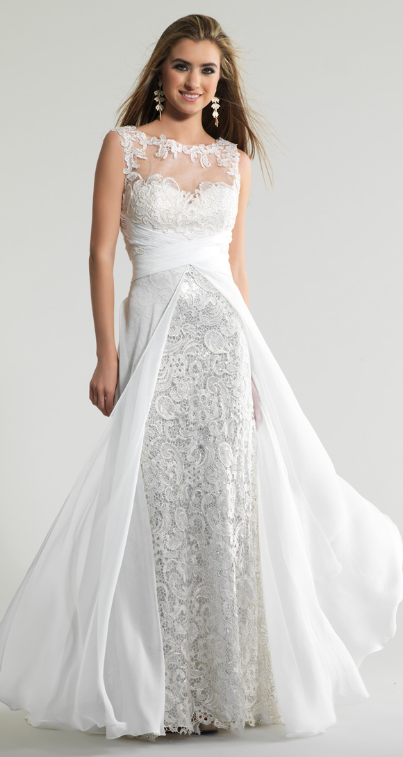 b7d1199b0058 € 150.37 |Árabe blanco largo de encaje con cuentas vestidos de noche  vestidos cucharada detrás diseño opacidad Ziad Nakad vestidos formales en  ...