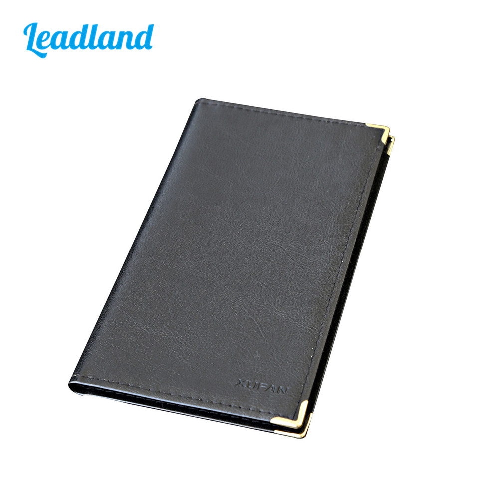 Large Capacity PU Leather Business Card Holder Book ID Card Case 1140 pu leather rfid card case badge plastic id card holder for employee fair 10pcs lot