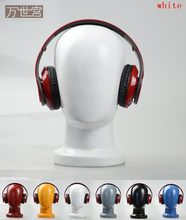 Plus Size Fiberglass Male Mannequin Head,Abstract Manikin Dummy Head For Hat& Headphones Display,6 Colors(China)