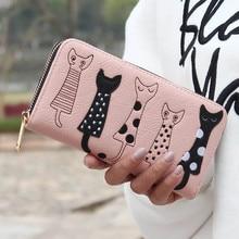 Luxury High Quality PU Leather Women Cat Cartoon Wallet