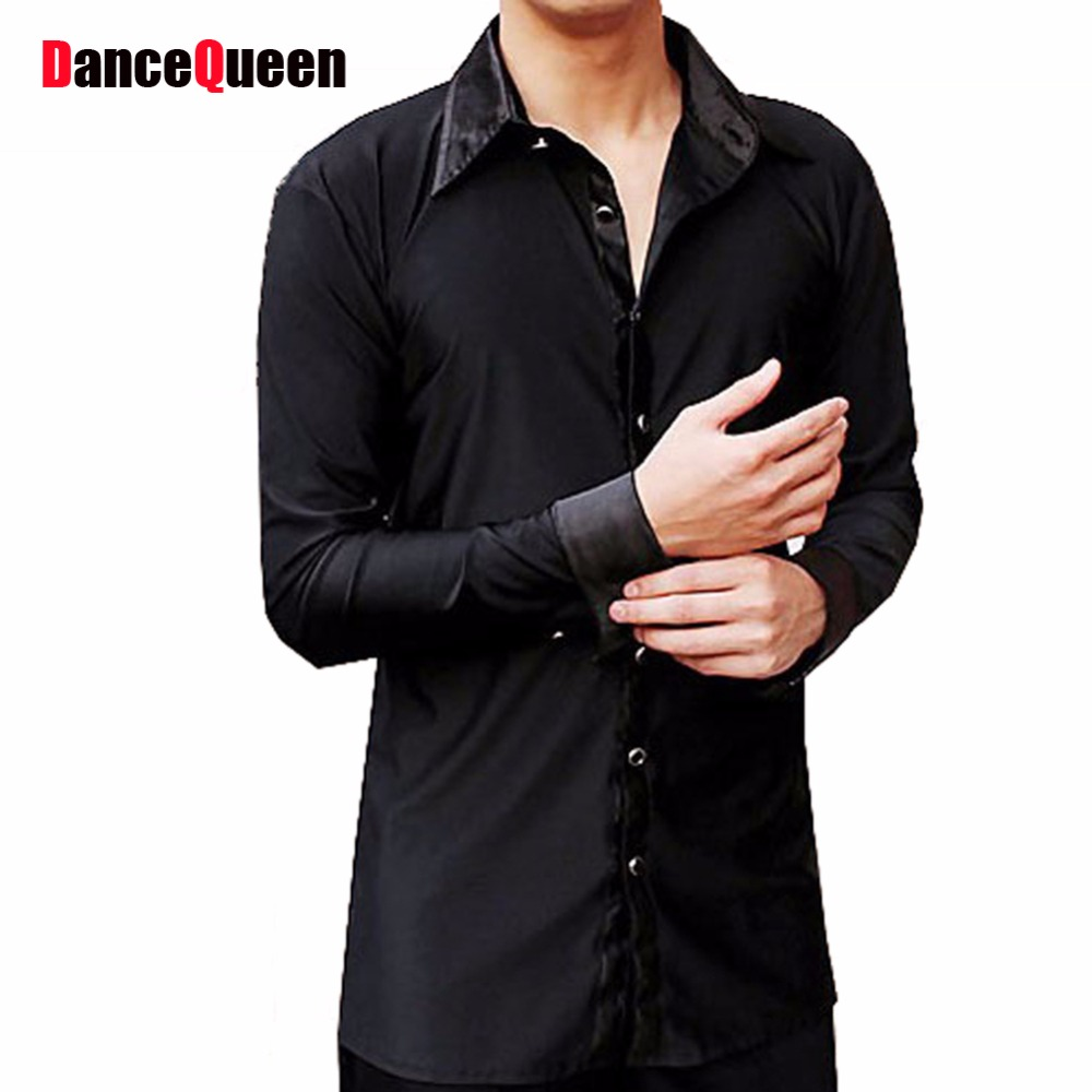 Buy men latin dance dress shirt top black Buy white dress shirt