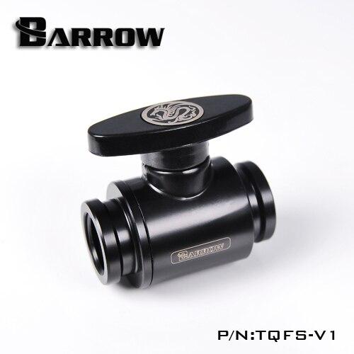 Barrow TQFS-V1 czarny/srebrny/biały G1/4 MINI uchwyt podwójny wewnętrzny uszczelnienie zawór kulowy, uchwyt z tworzywa sztucznego, korpus z mosiądzu