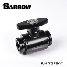 Barrow TQFS V1 czarny/srebrny/biały G1/4 MINI uchwyt podwójny wewnętrzny zawór kulowy uszczelniający, plastikowy uchwyt, korpus z mosiądzu