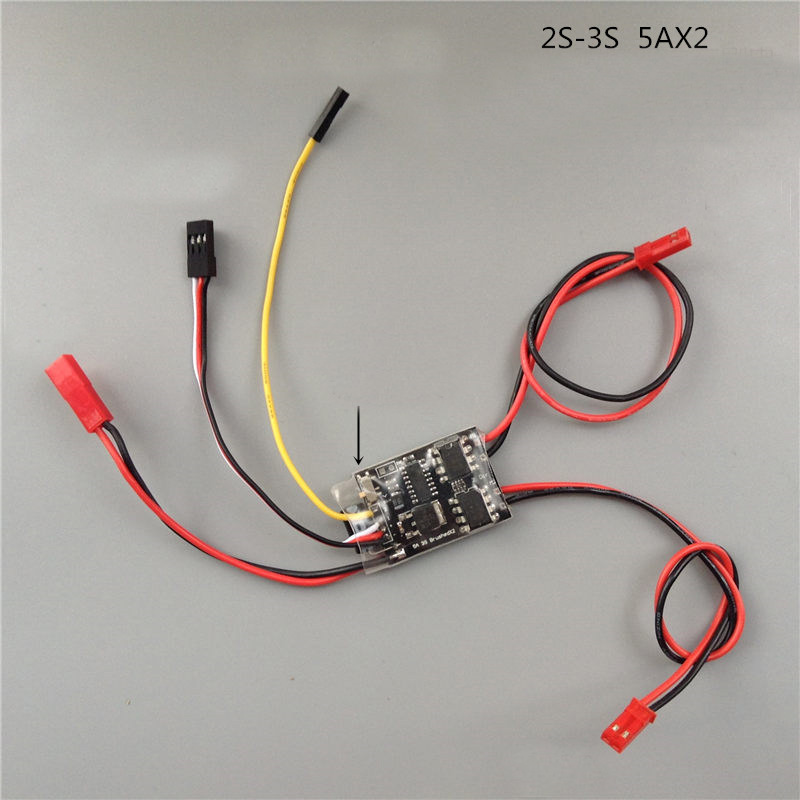1PCS Dual Way Bidirectional Brushed ESC 2S-3S Lipo 5A ESC Speed Control for RC Model Boat/Tank 130 180 Brushed Motor Spare Parts 10a brushed esc two way motor speed controller for 1 16 1 18 1 24 car boat tank f05427 28