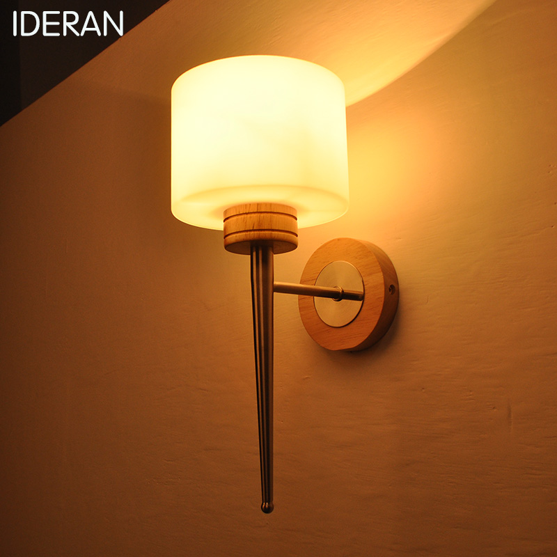IDERAN Modern wood aluminum iron wall lamp aluminum reading lamp decoration night lamp corridor stairs bedroom bedside wall lamp modern lamp trophy wall lamp wall lamp bed lighting bedside wall lamp