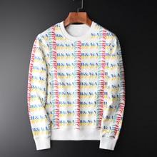 Minglu 100% algodão sweatshirts homens luxo allover impresso gola redonda hoodies dos homens plus size 3xl 4xl primavera moletom masculino