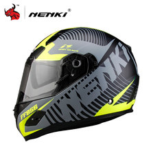 NENKI Men Women Motorcycle Helmet DOT Certification Fiberglass Shell Street Bike Racing Motorbike Riding Helmet Capacete De Moto