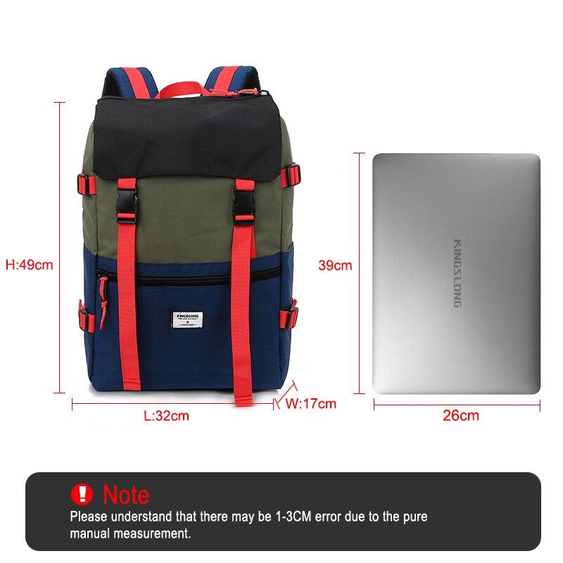 KINGSLONG Travel Men Waterproof Drawstring Bag America Backpack for Laptop Male Large Capacity Bag for Teenagers KLB1342-6 5