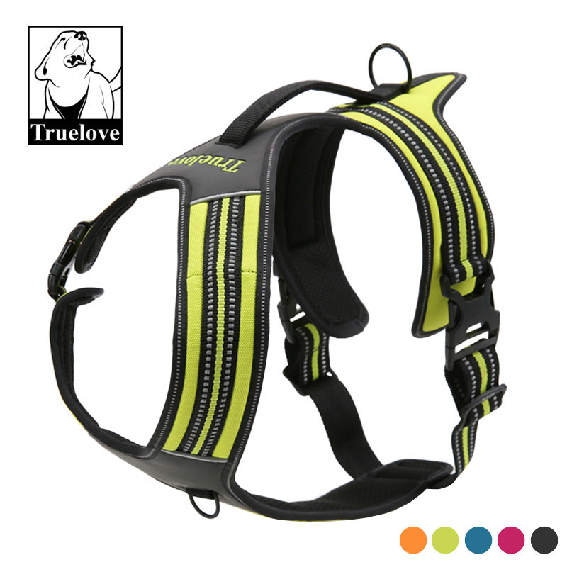 Truelove Sport Nylon Reflective No Pull Dog Harness Outdoor Adventure Pet Vest with Handle xs to xl 5 colors CRDU