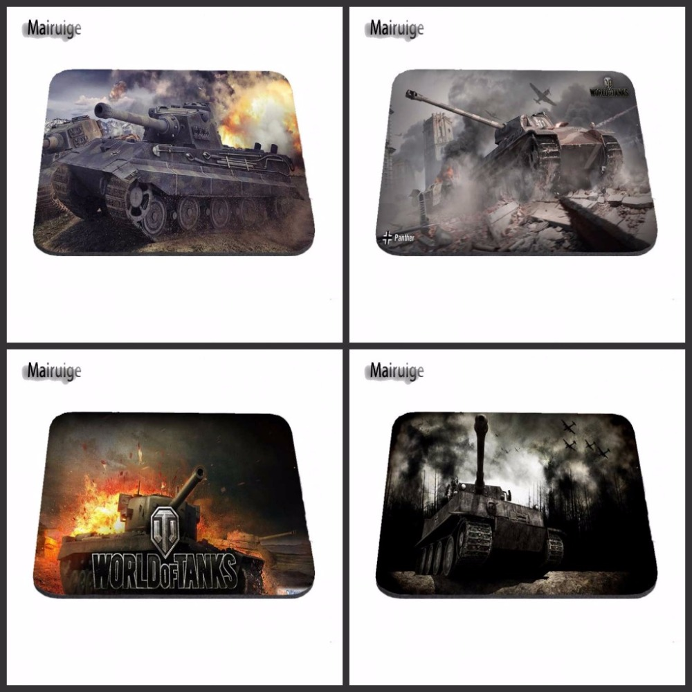 Mairuige Luxury Printing World Of Tanks Battle New Arrivals Gaming Mouse Pad Computer Mouse Pads 18*22cm/25*20*cm/25*As Gift