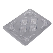CapsulCN,1000 pcs/carton Blister Pack with 4 holes ,Blister Packing Sheet for 70*53mm Tablets