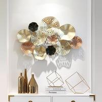 Европейский ресторан стикер на стену украшение гостиной Железный трехмерный стерео полый дизайн теневой свет
