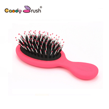 MY GIRL Mini 100% wild boar bristle hair extension brush professional Candy Brush beauty salon comb