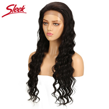 Sleek Deep Wave Lace Front Human Hair Wigs For Black Women B