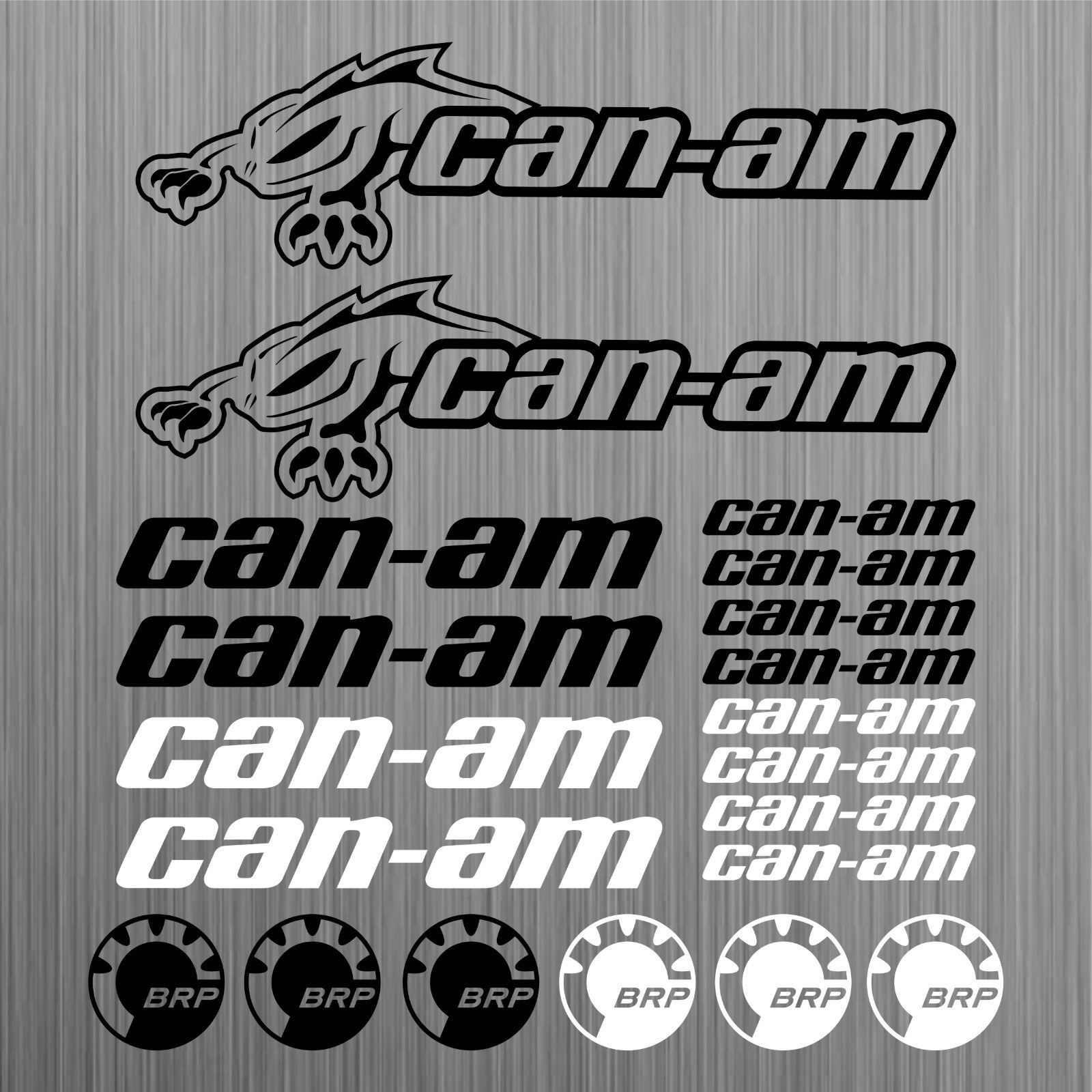 For Can Am Canam Brp Sticker Quad Atv Decal 20 Pieces Car