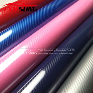 Image 1 - New arrival 5D carbon fiber with more colors for choice Blue red silver grey pink 5D carbon film 10/20/30/40/50/60x152CM/LOT