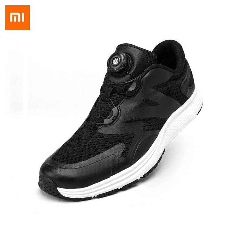 New Xiaomi Youpin Rotating buckle Sports Shoes Automatic drawstring shoes Leisure light Anti skid Sport Shoes