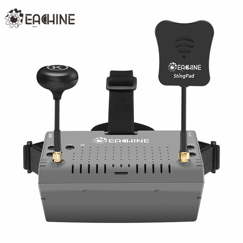 2018 New Eachine EV900 5.8G 40CH HDMI AR VR FPV Goggles 5 Inch 1920*1080 HD Display Built-in Battery For RC Racing Dron eachine ts5840 upgraded 40ch 5 8g 200mw wireless av transmitter tx for fpv multicopter