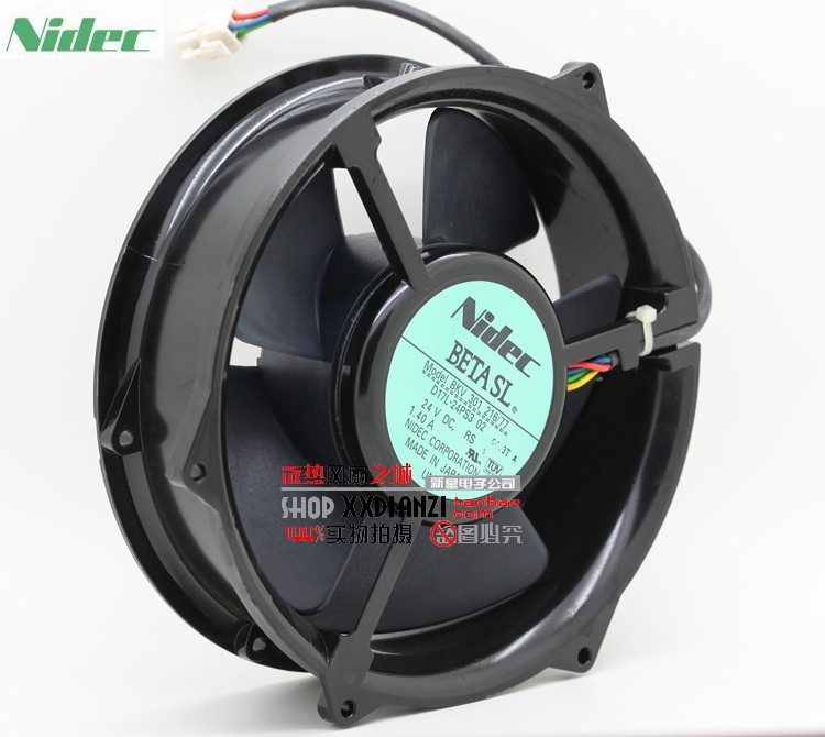 все цены на Nidec BKV 301 216/77 D17L-24PS3 02  170 * 170 * 50mm 17cm 170mm DC 24V 1.40A cooling fan онлайн