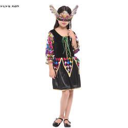 Хэллоуин Фея костюмы для девочек Дети принцессы Золушки Cosplays карнавал Пурим парад маскарад Вечерние пьесе платье