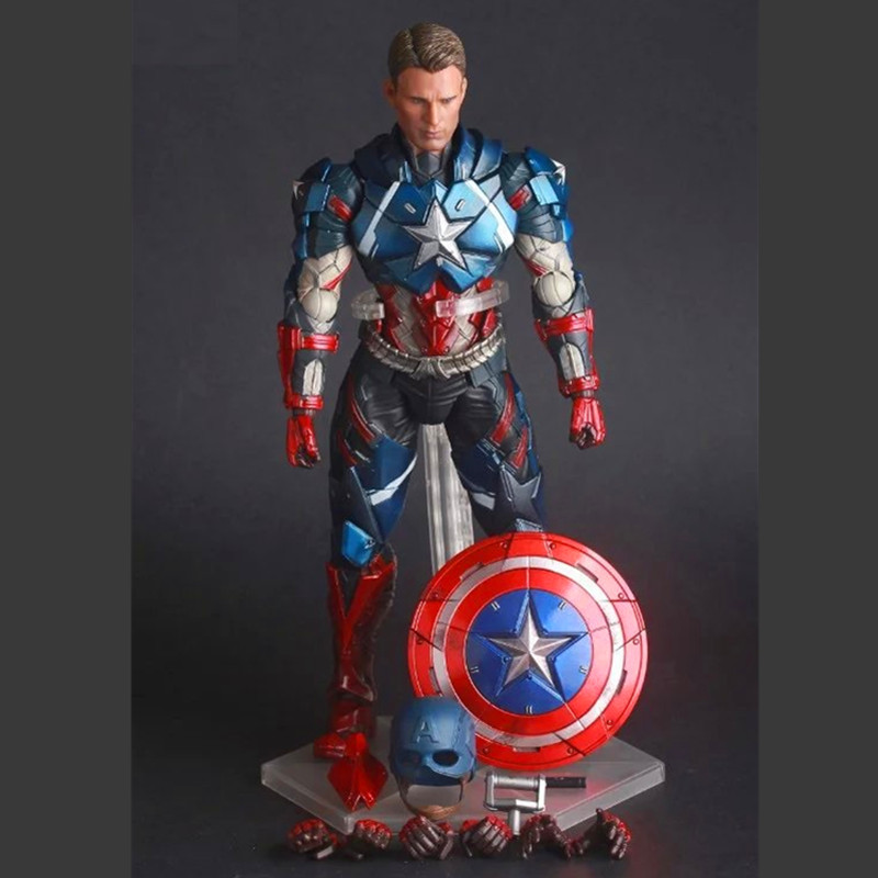 Marvel Universe Avenger Captain America Movable Crazy Toys Action Figure Model new dacom carkit mini bluetooth headset wireless earphone mic with usb car charger for iphone airpods android huawei smartphone