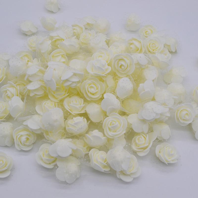 30 unids/lote 3.5 cm pe espuma rose multi-uso artificial cabeza de la flor hecha