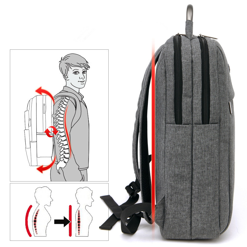 cf606a81ee9f Square Men Waterproof Laptop Backpack Schoolbag Business Computer Back Pack  Student Backbag for School Male Bagpack Bags-in Backpacks from Luggage    Bags on ...