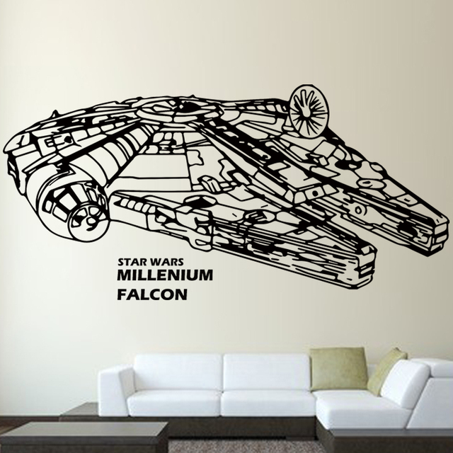 Star Wars Millennium Falcon Childrens Bedroom Living Room Wall Decoration Stickers686