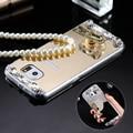 S6 s6 borda luxo bling glitter caso espelho para samsung galaxy S6 S6 Borda Diamante Rhinestone Cristal Tampa Do Telefone TPU Macio Capa