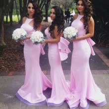 Mermaid Long Bridesmaid Dress Backless Sexy Long Bridesmaids Gown Custom Made vestido madrinha TB1634