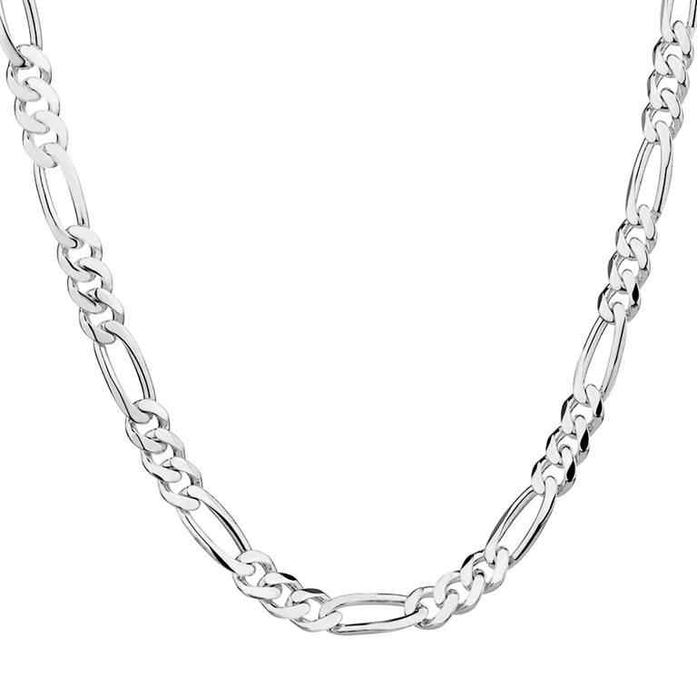 H:HYDE Wholesale 1 pcs Simple Silver Color Chain Necklace Fine Jewelry For Women Men 16inch-30 inch  DY