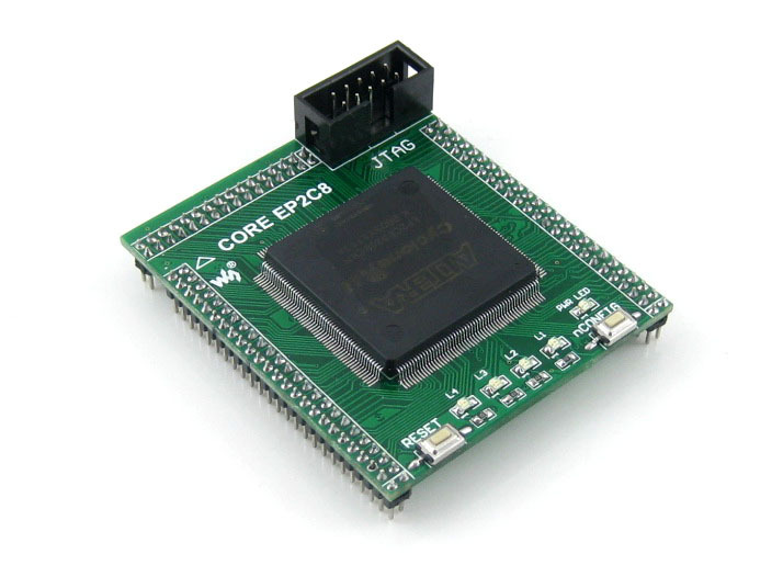 Waveshare CoreEP2C8 EP2C8Q208C8N EP2C8 ALTERA Cyclone II CPLD & FPGA Development Core Board with Full IO Expanders abel adv in cardiology – electrocardiology ii phys io pathophysiological