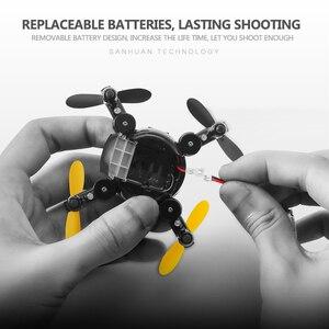 Image 5 - Quadcopter 時ドローンミニ折りたたみリモートコントロール航空機 HD 空中カメラ小型機と交換可能なバッテリー