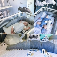 Newborn Nordic Baby Bed Bumper Infant Crib Baby Room Dector New Crocodile Doll Pillow Cushion Toys Bedding Protector