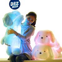 Dog Plush Luminous Pillow Christmas Toys Led Light Pillow Plush Pillow Hot Colorful Stars Kids Toys