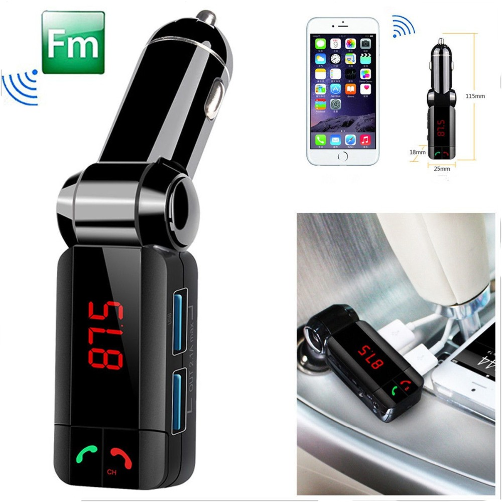 Car MP3 Audio Player Bluetooth FM Transmitter Wireless FM Modulator Car Kit HandsFree USB Charger for iPhone hot selling