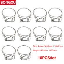 SONGXU 10pc linka zabezpieczająca drut stalowy światło sceniczne liny bezpieczeństwa kabel bezpieczeństwa sprzęt Bar Led ruchoma głowica lampa par SX SR85CM