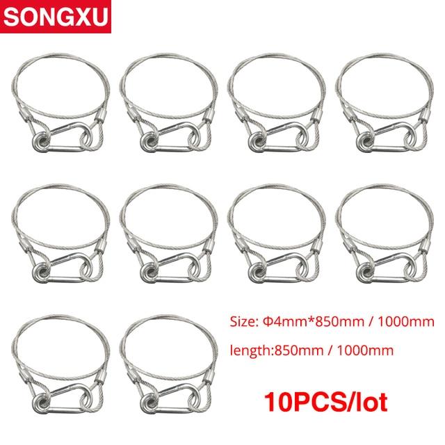 SONGXU Cable de seguridad de acero para escenario, cuerdas de seguridad, equipo de Cable de seguridad, barra Led con cabezal móvil, SX SR85CM de luz