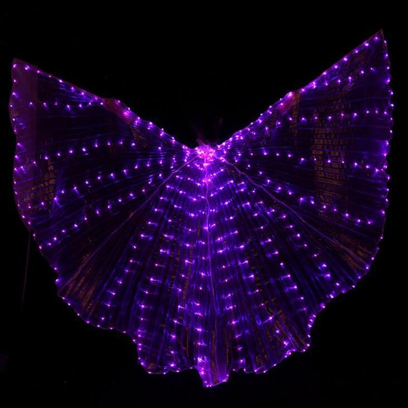 Chaud-Vente Danse Du Ventre LED Isis Ailes Belle Oriental De Danse Accessoire LED Ailes Sexy Stage Show Props Ailes 5 couleurs disponible