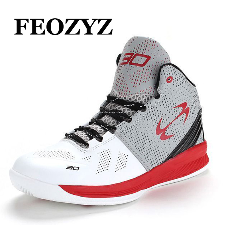 FEOZYZ Brand 2016 New Basketball Shoes Men Women Breathable Outdoor Mens Basketball Sneakers High Top Basket