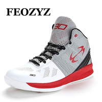 FEOZYZ Brand 2016 New Basketball Shoes Men Women Breathable Outdoor Mens Basketball Sneakers High Top Basket Homme Size 36 45