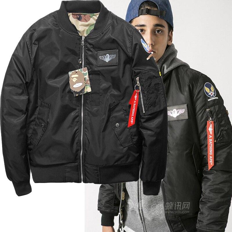 Online Shop 2015 fashion brand camouflage bape winter baseball MA1 ...