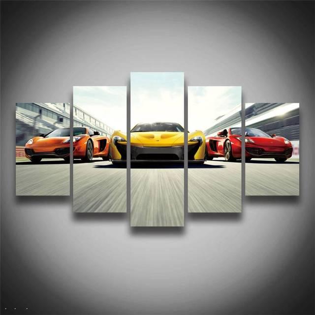 Neuheit Hochwertige Gerahmte Gedruckt Sport Auto Poster Leinwand