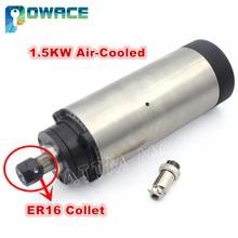 [EUฟรีVAT] 1.5KW ER16 แกนระบายความร้อนด้วยอากาศมอเตอร์ шпиндель для чпу 80x200 มม.220V CNCแกะสลักGRIND CNCเครื่องมิลลิ่ง