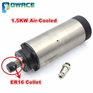 Image 1 - Moteur à broche ER16, 1,5 kw, Air refroidi, pour chpu, 80x200mm, 220V, CNC, fraiseuse, cnc, sans tva dans lue