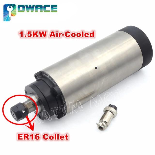Moteur à broche ER16, 1,5 kw, Air refroidi, pour chpu, 80x200mm, 220V, CNC, fraiseuse, cnc, sans tva dans lue