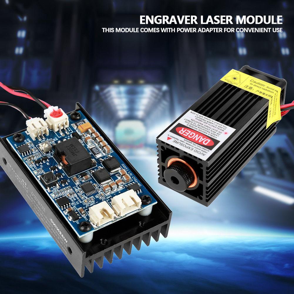 450nm 15W Laser Module W Heatsink Fan Support TTL PWM for DIY Laser Engraver J 450nm